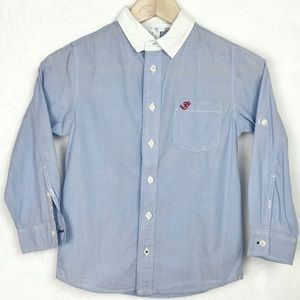Jacadi Button Down Collard Shirt Boys Size 8Y